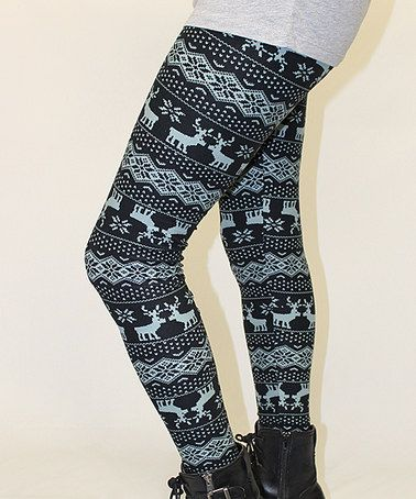 Look what I found on #zulily! Black & Blue Fair Isle Reindeer ...