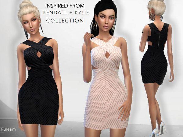 Puresim's Kendall Dress   Sims 4 Updates   Sims 4 dresses