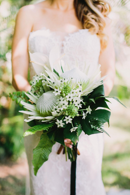 20 Tropical Leaf Wedding Bouquets Wedding Bouquets Orchid