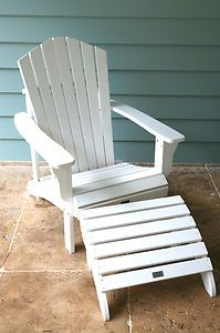 Adirondack Chair Cape Cod Chair Deck Chair Outdoor Furniture With Footrest:  $168
