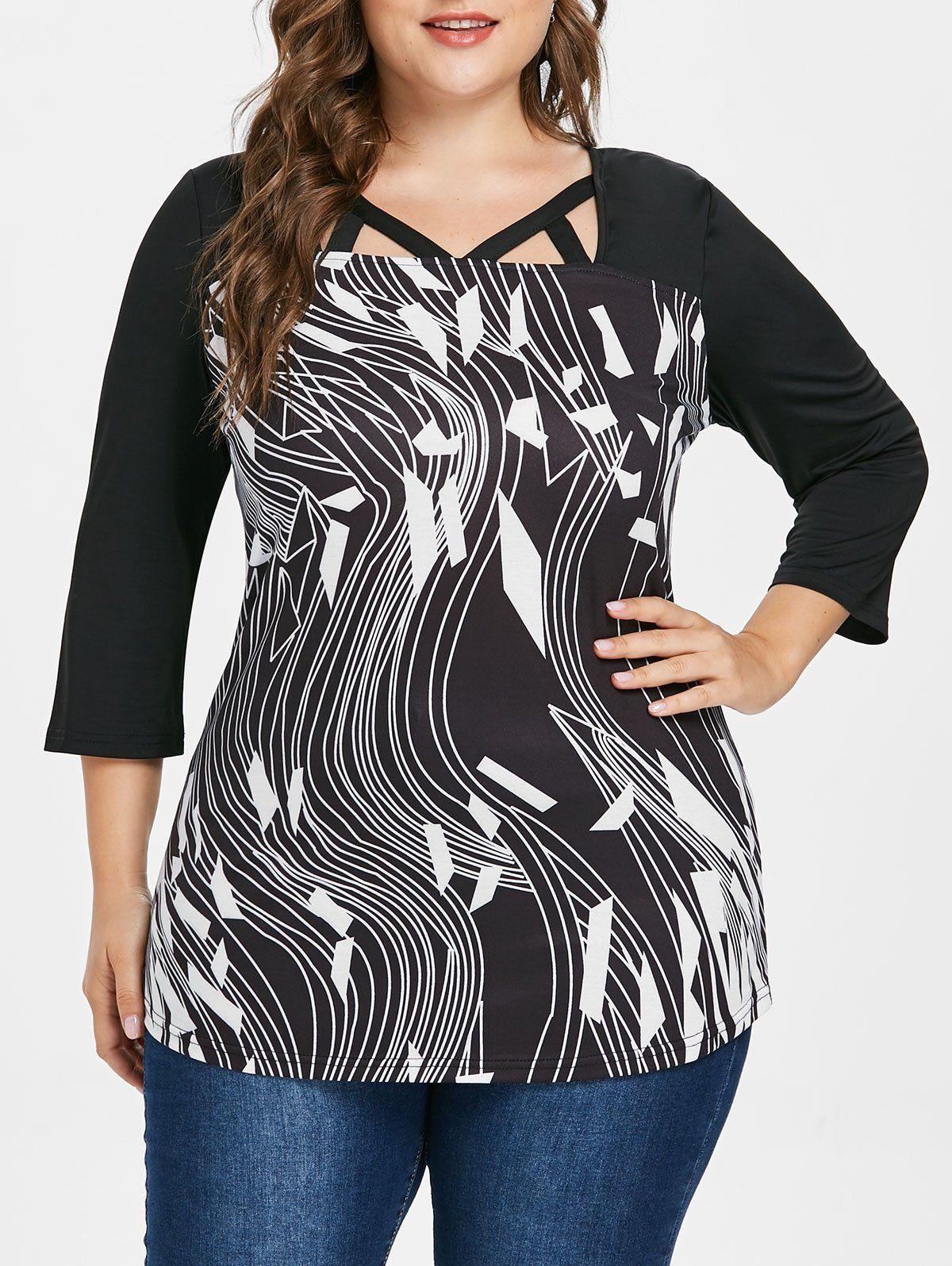 Plus Size Graphic Square Neck T-shirt | pretties in 2019 ...