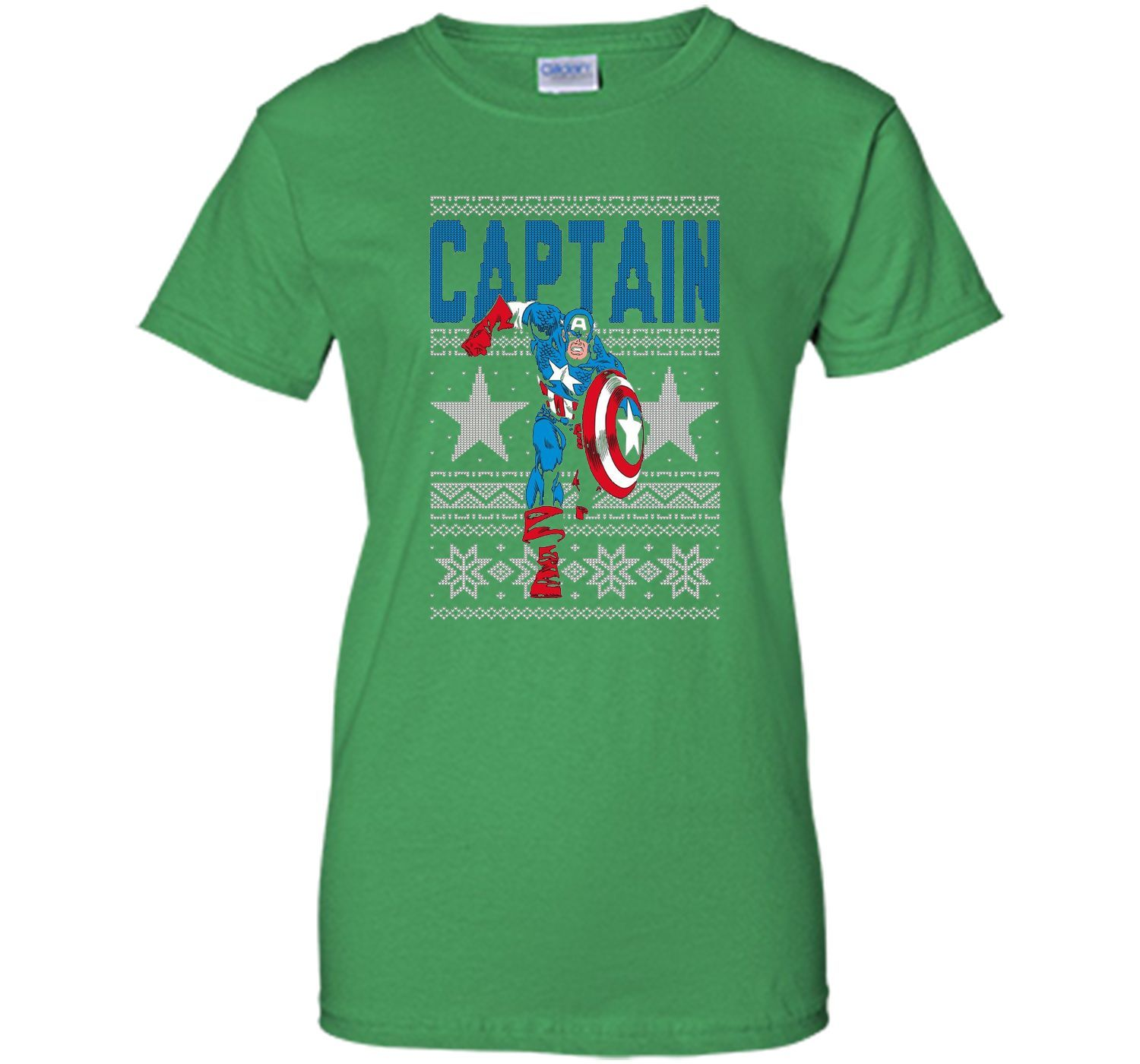 Captain America Star Ugly Christmas Sweater Graphic T Shirt