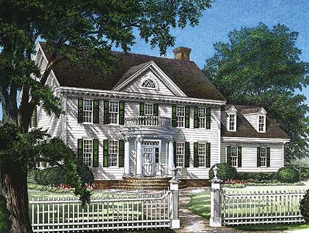Plan 32559wp Stately Colonial Home Plan Colonial House Colonial House Plans House Plans