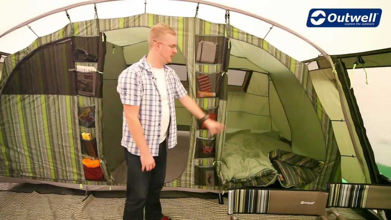 A tour of the Outwell Vermont XL tent... huge glamping ...