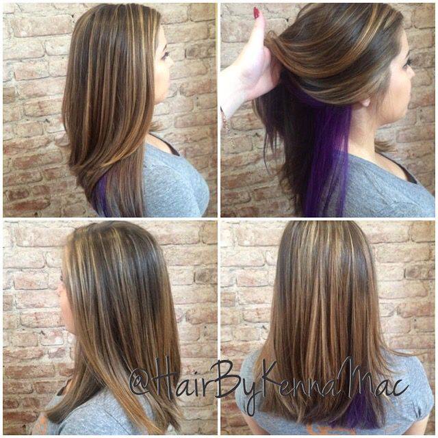 Purple peekaboo and highlights hair by kenna mac pinterest hair goals pmusecretfo Gallery