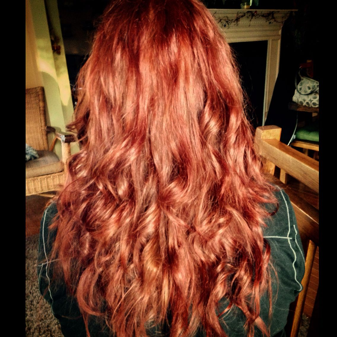 Red L Oreal Hicolor In Red Copper Done On Auburn Brown Hair