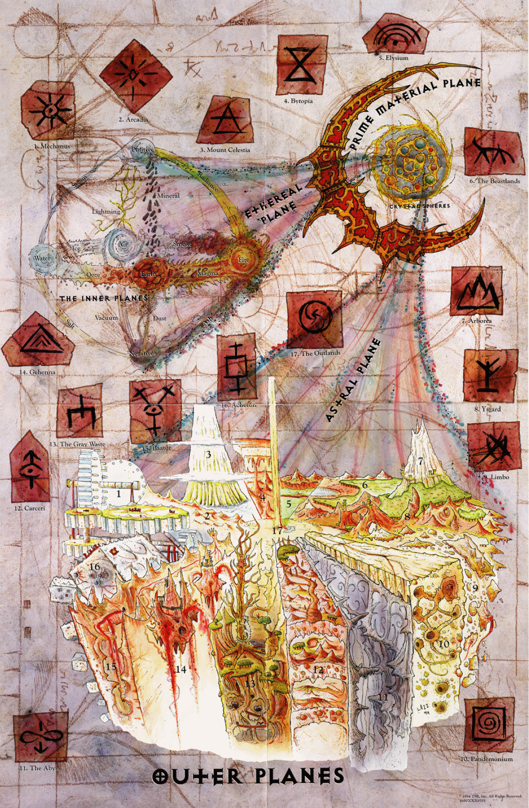 Sigil Location Giant Bomb Fantasy World Map Fantasy Map Fantasy Artwork