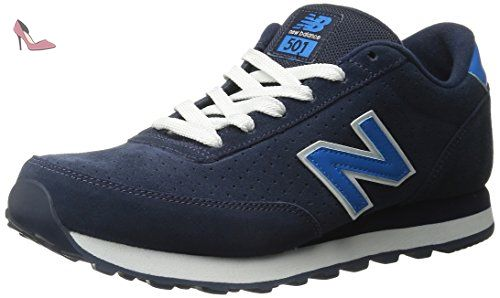 f8e24390b05 New Balance Mens 501 Navy Blue Suede Classics Traditionnels Navy Blue Suede  Trainers 42.5 EU -