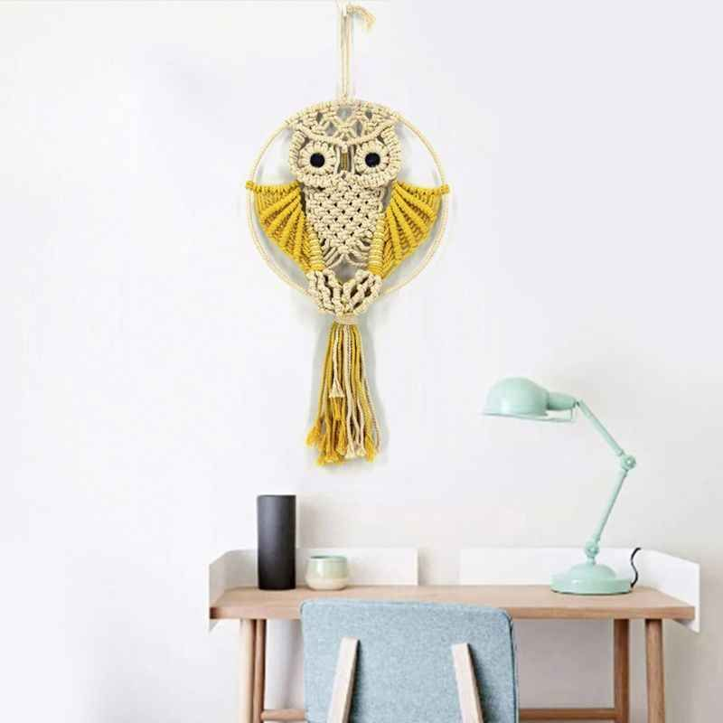 Macrame Wall Hanging Art Owl Woven Tapestry Macrame Wall Hanging Home Decor Apartment Dorm Room Decoration Tapestry Aliexpress Hanging Wall Decor Handmade Wall Hanging Woven Decor