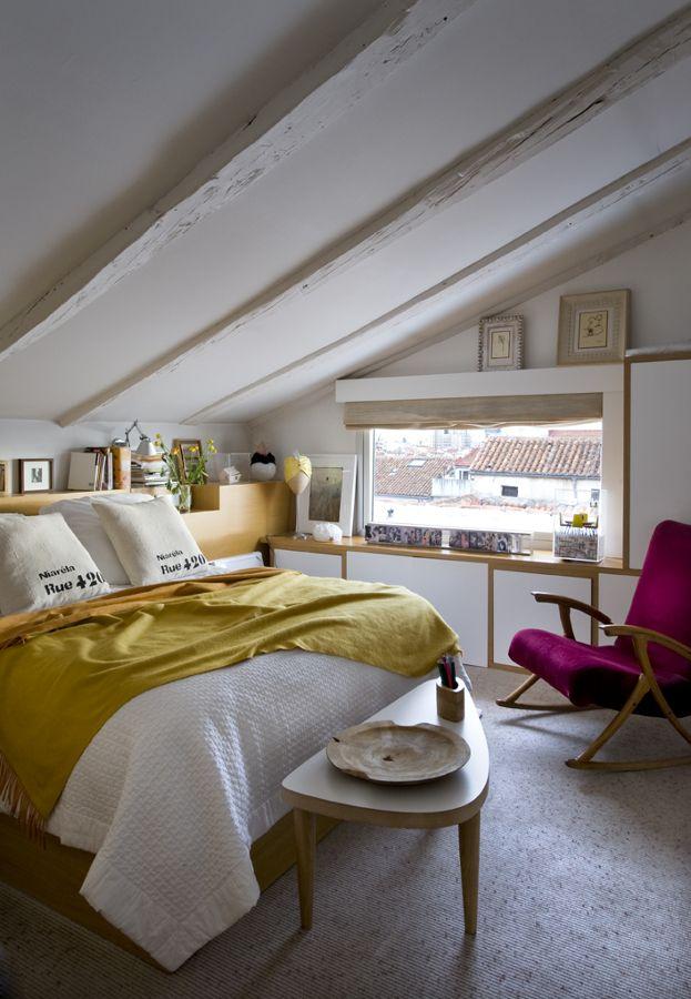 Dormitorio principal cubierta inclinada | Bedroom | Pinterest ...
