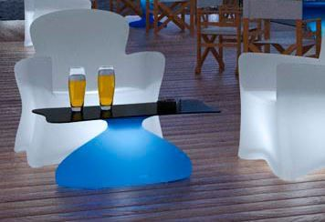 table basse lumineuse led apolo | design | pinterest | led, design, Wohnzimmer dekoo