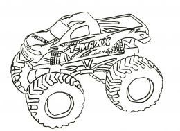 Monster Trucks Kids Coloring Pages And Free Colouring Pictures To Print Monster Truck Coloring Pages Truck Coloring Pages Monster Coloring Pages