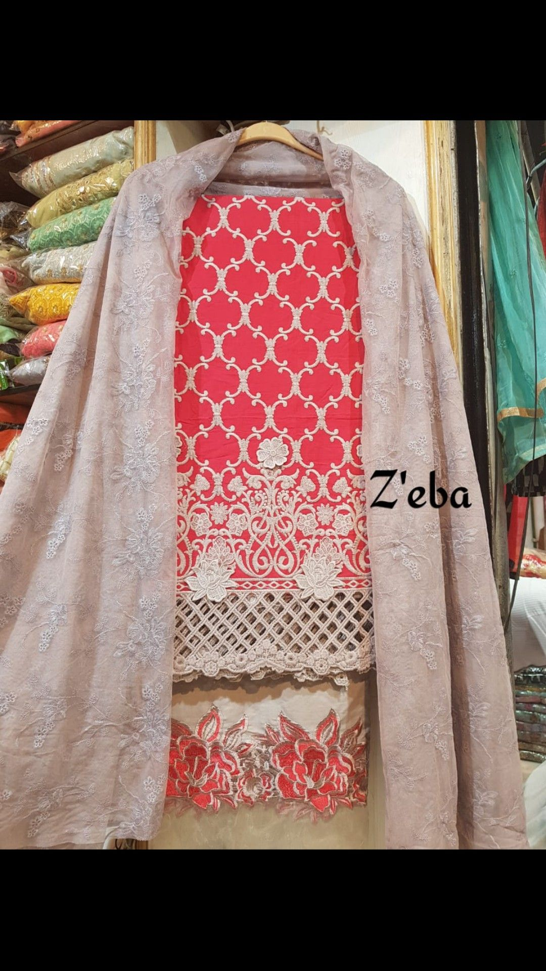 46ae049b54 PAKISTANI 3D CUTWORK SUITS sold by CS VILLE contact for more variety  9891403364