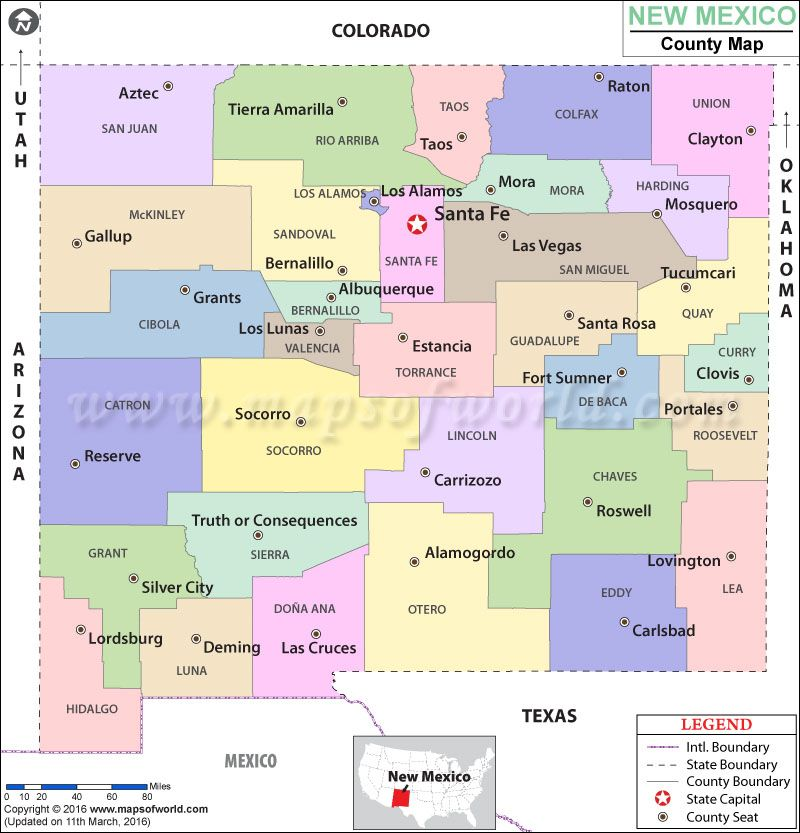 Look At The Detailed Map Of NewMexico County USA Countymap - Colorado state map with counties and cities