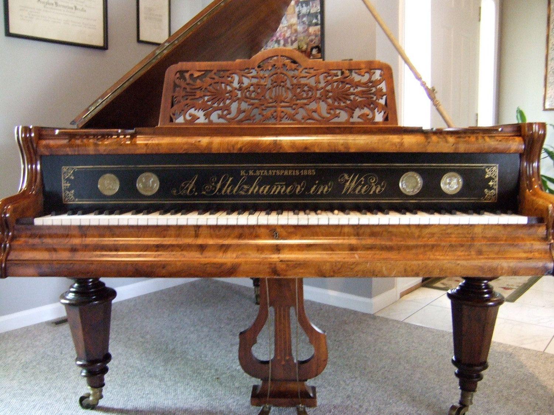 Antique Baby Grand Piano Built In Vienna Austria Music