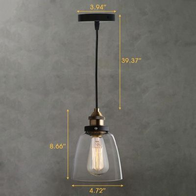 Vintage bronze led mini pendant 1 light with clear glass dome shape vintage bronze led mini pendant 1 light with clear glass dome shape aloadofball Gallery