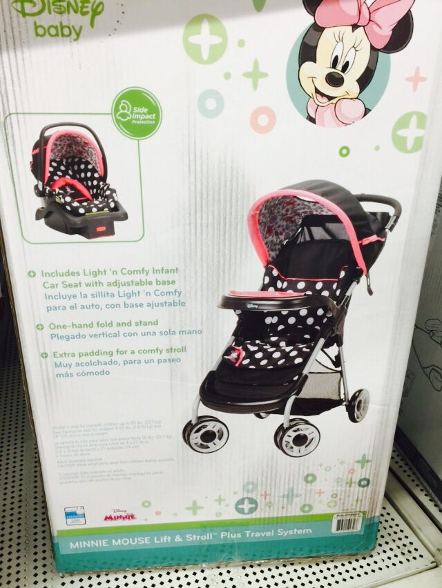 Minnie Mouse Car Seat And Stroller Duo Walmart 149 00 Car