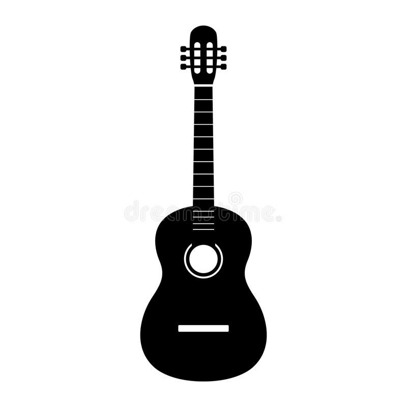 Guitar Icon Vector Acoustic Musical Instrument Sign Isolated On White Backgroun Aff Instrument Musical Isol Guitar Graphic Design Musical Instruments