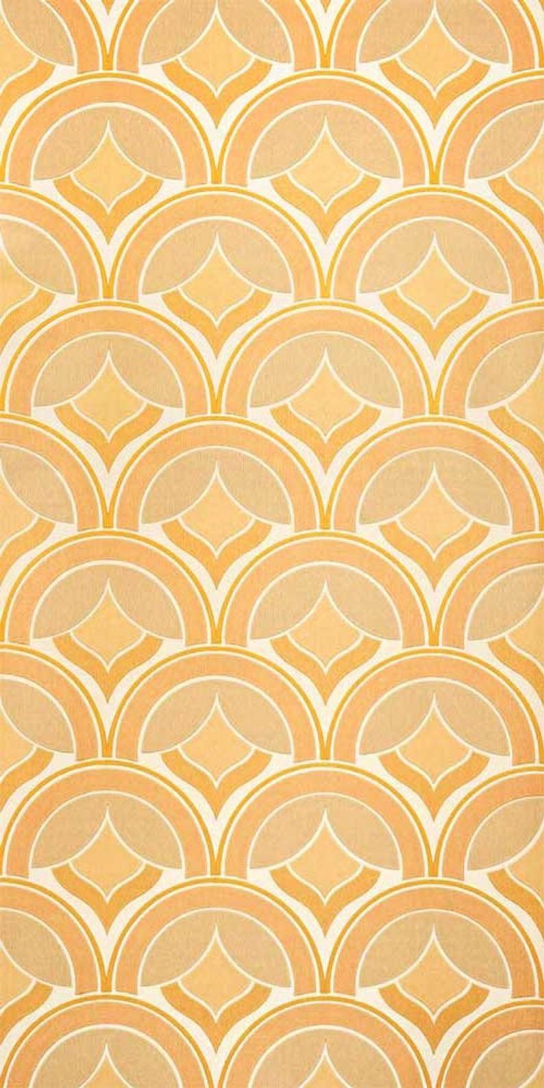 70s Wallpaper 1036 Roll Vintage Wallpaper Tapeten Und Retro Druck