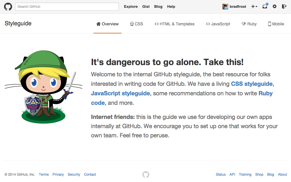 GitHub's code style guide provides best practices for