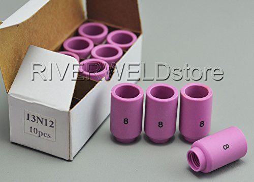 13n12 8 Tig Alumina Nozzle Ceramic Cups Fit Pta Sr Db Wp 9 20 25 Tig Welding Torch Accessories 10pk