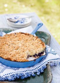 Blueberry Crumb Skillet Cake