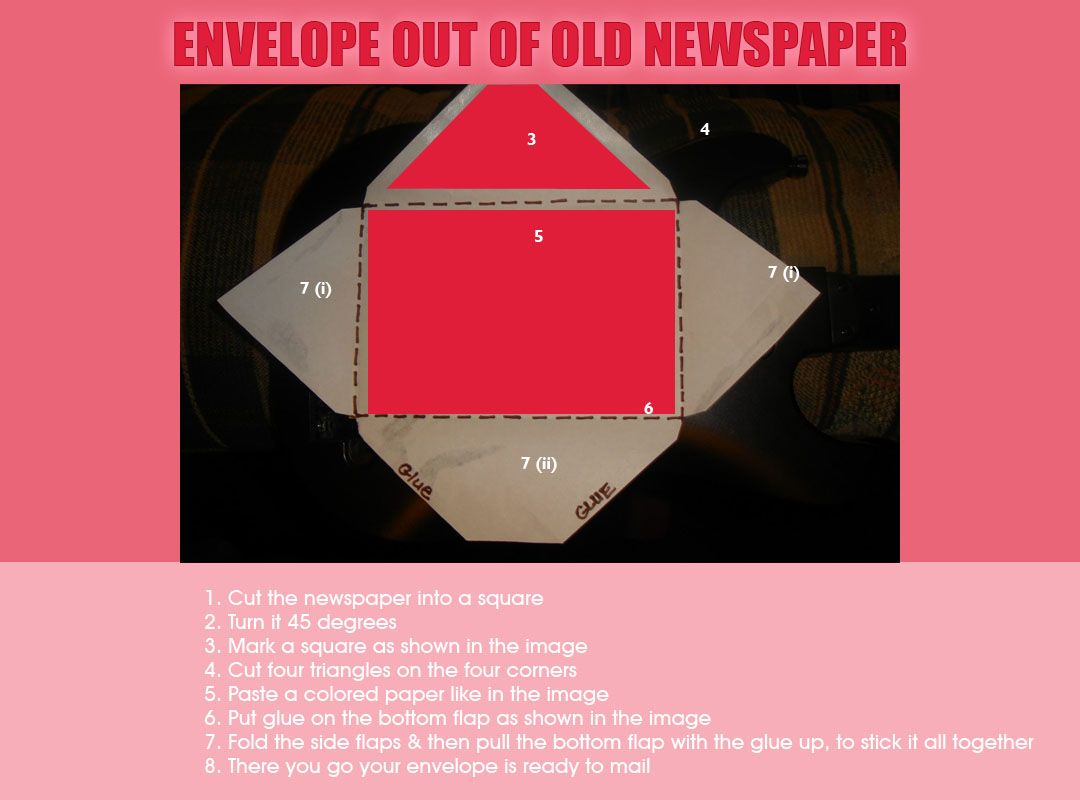 Making An Envelope From Newspaper How To Make An Envelope Old Newspaper Best Out Of Waste