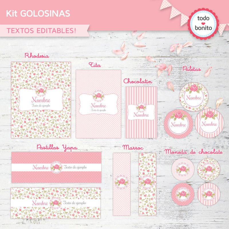 Etiquetas De Golosinas Shabby Chic Para Imprimir Etiquetas Personalizadas Para Imprimir Etiquetas Para Imprimir Gratis Golosinas Para Candy Bar
