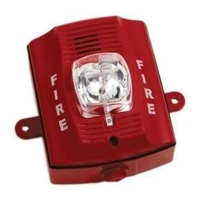 System Sensor Honeywell P2rhk 120 2 Wire Horn Strobe Wall Mount Hi Candela Red Outdoor By System Sensor Wireless Security System Strobing Sensor