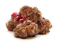 Juustoiset lihapullat puolukkahillolla | Reseptit | Valintatalo