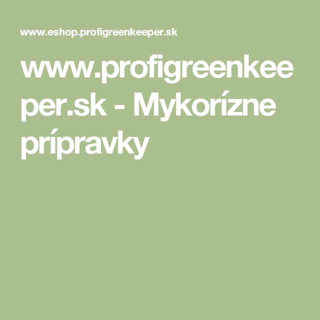 www.profigreenkeeper.sk - Mykorízne prípravky
