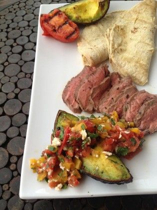 Grilled Sirloin And Avocado Tacos
