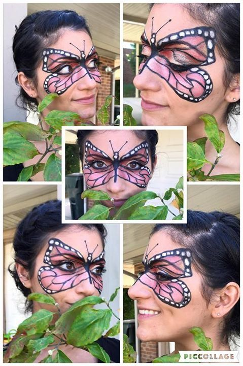 Butterfly Makeup finished with Younique products Halloween makeup ...