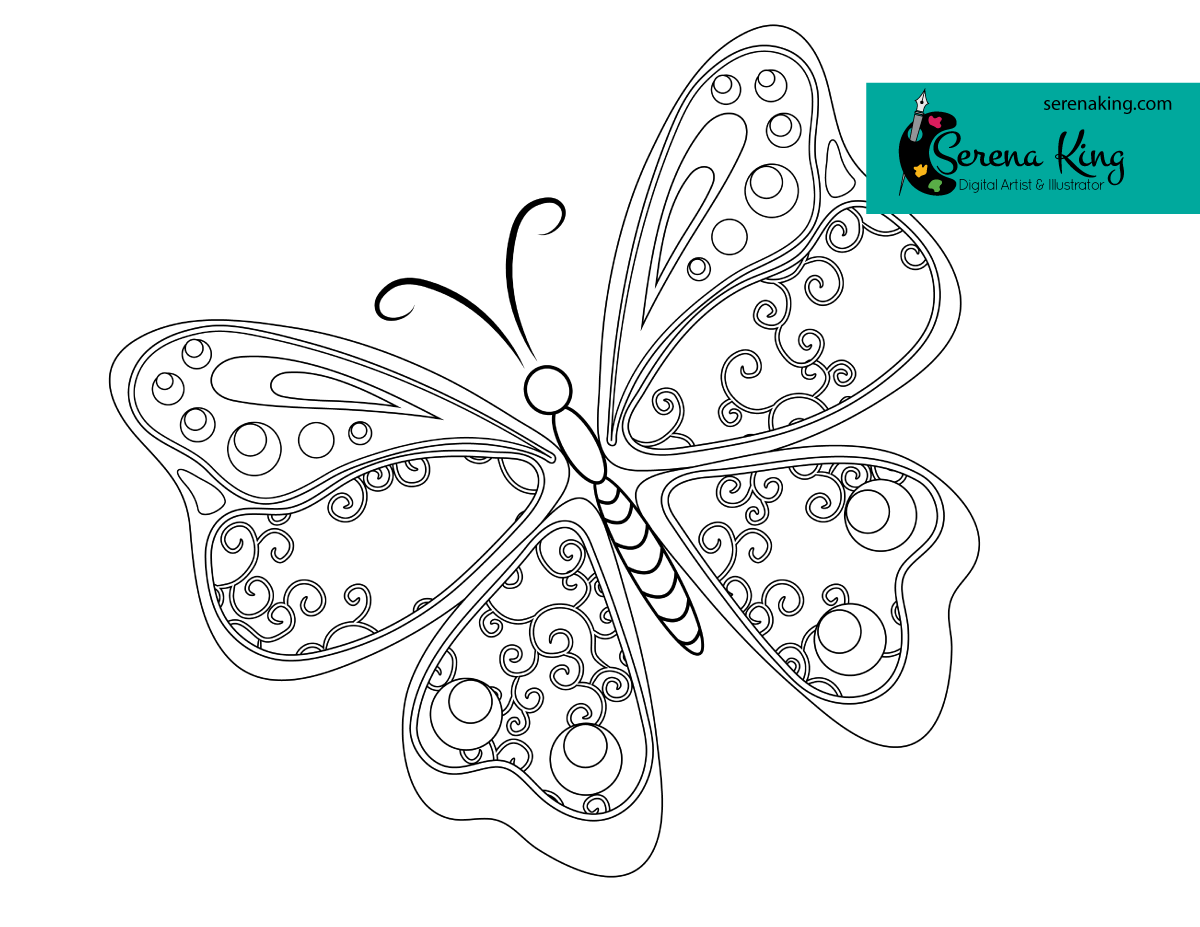 Abstract Butterfly Coloring Page Butterfly Coloring Page