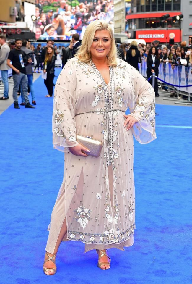 9c5678e02245 Towie's Gemma Collins makes a fashion comeback in a sequinned kaftan at  Valerian premiere after THAT orange dress