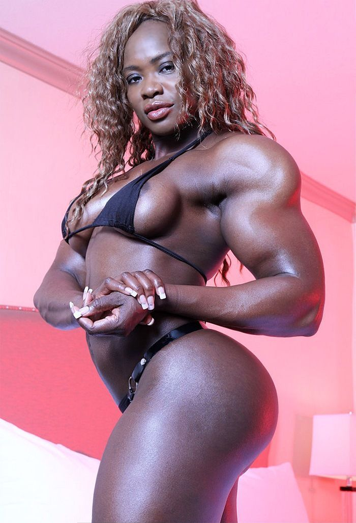Ass black muscle woman