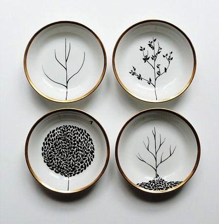 Aprende a decorar platos de cer mica con rotuladores el - Platos decorativos modernos ...