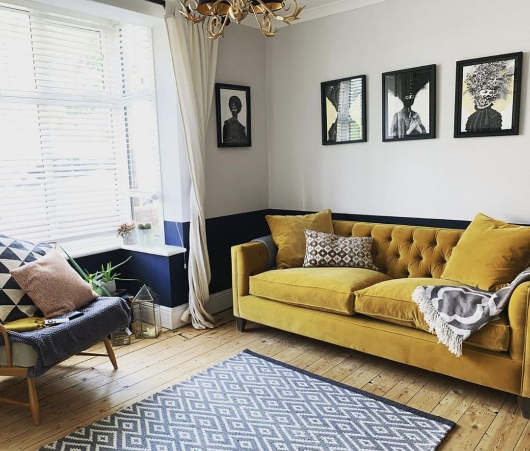 Mustard Yellow Is Such A Key Colour Within Interiors That Isn T Going Anywhere Anytime Soon Yello Velvet Sofa Living Room Living Room Inspo Sitting Room Decor