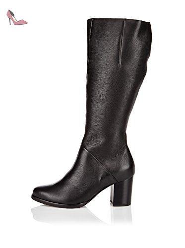 H?GL Wedge, Bottes Haute Femme - Noir - noir (0100 noir), 41.5