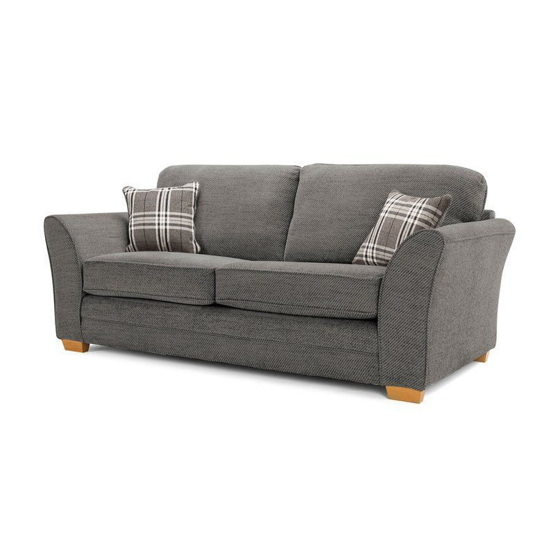 Standard 2 Seater Sofa Bed Grey Polyester Fire Resistant Living Room Furniture Sofa 2 Seater Sofa 3 Seater Sofa