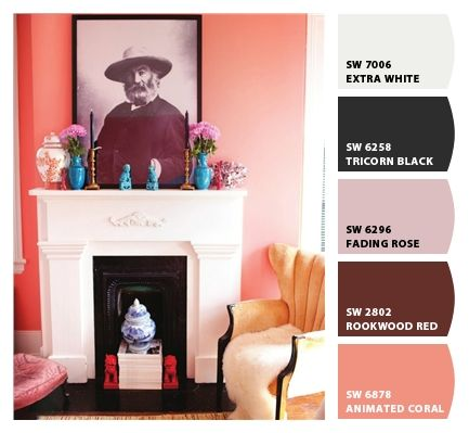 Master Bedroom Inspiration // Paint Colors From Chip It! By  Sherwin Williams · Peach WallsCoral WallsCoral Accent ...