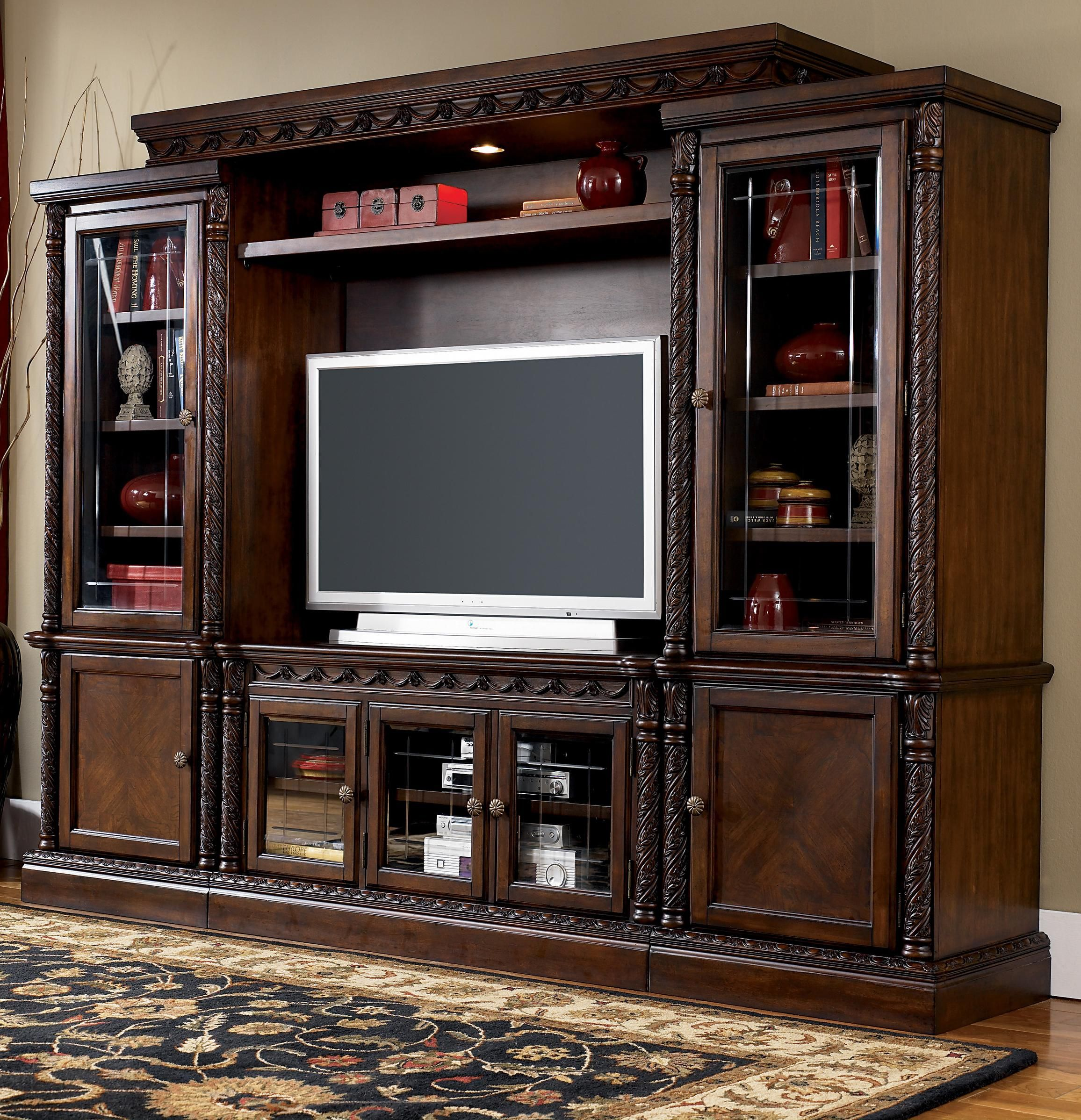 North Shore Traditional Entertainment Wall Unit By