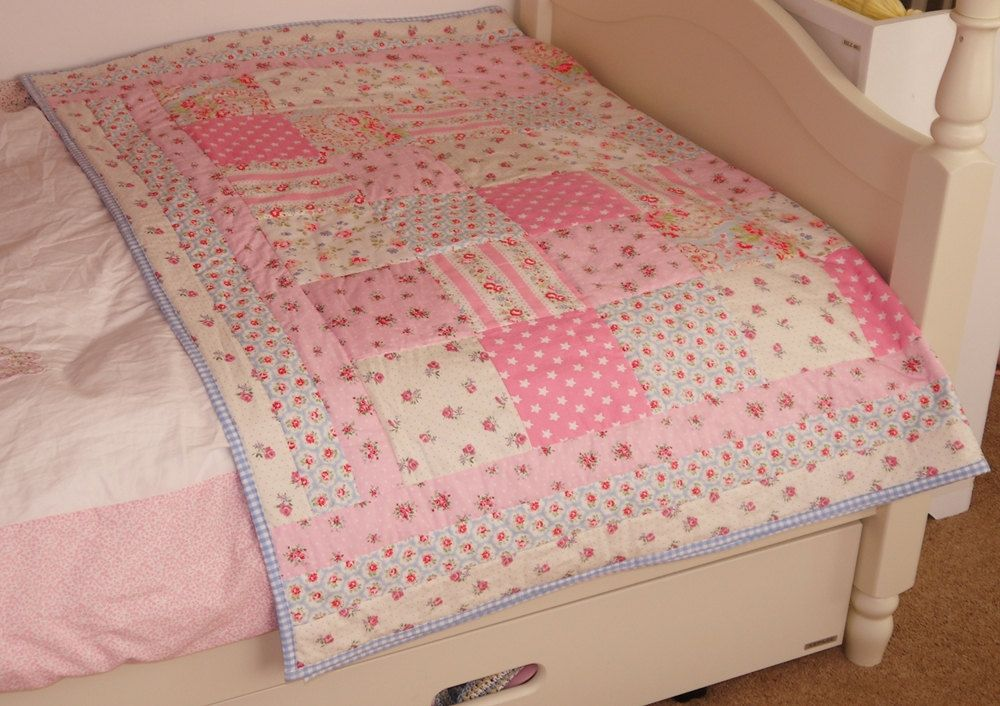 Items Similar To Handmade Patchwork Quilt Single Bed Size Cath Kidston Fabric Girls Boys Bedroom Nursery Blanket Made In The Uk On Etsy Patchwork Quilts Bed Quilt Patterns Quilts