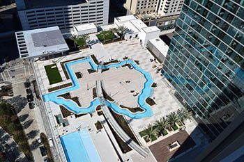 Houston Marriott Marquis Texas Shaped Pool Only In Texas Texas