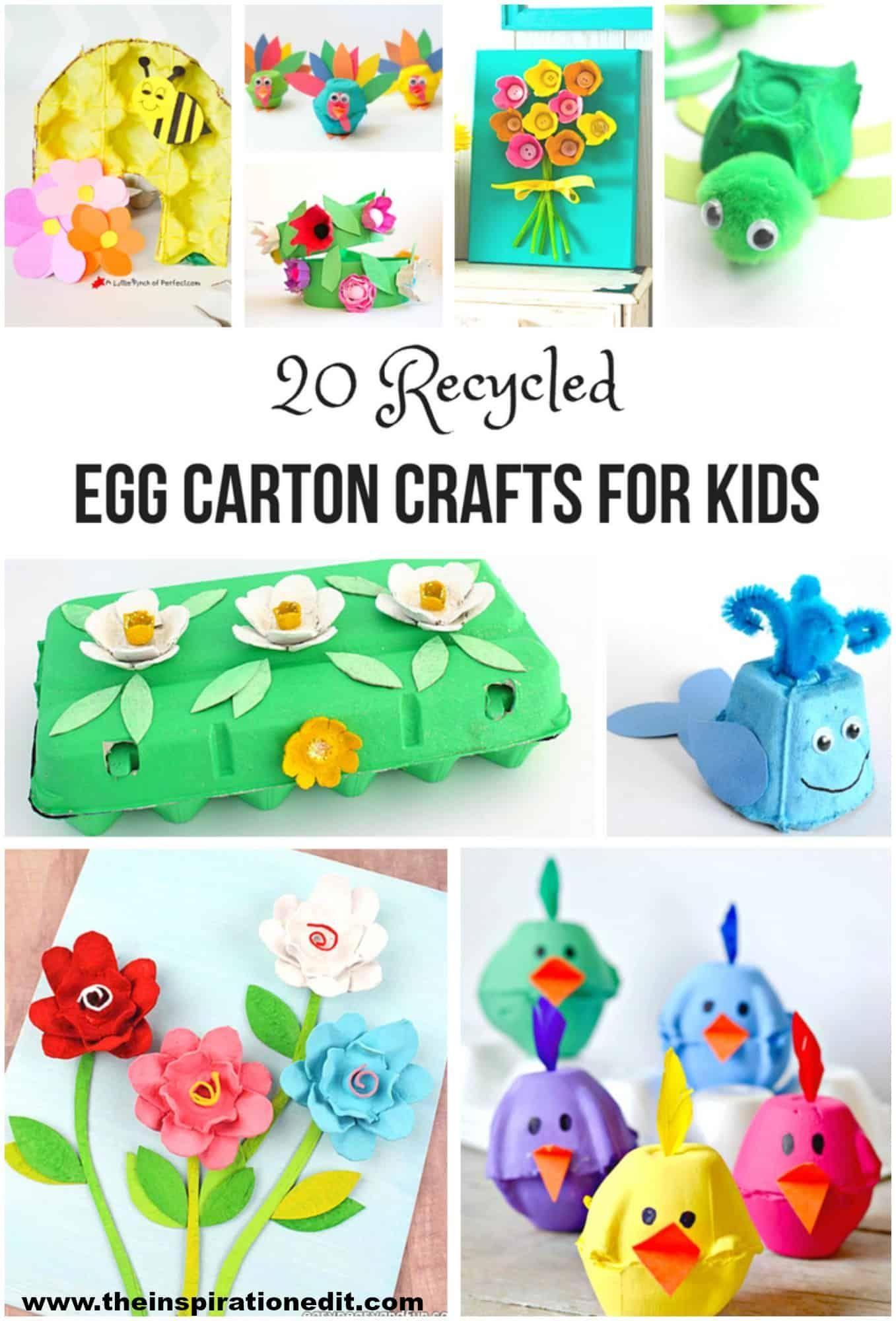 20 Recycled Egg Carton Crafts Egg Carton Crafts Easter Crafts