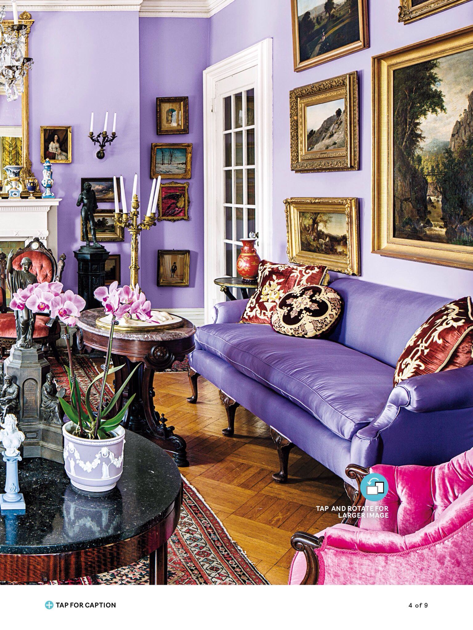 Violet Room Design: Colourful Living Room, Comfy Cozy Home, Cozy House