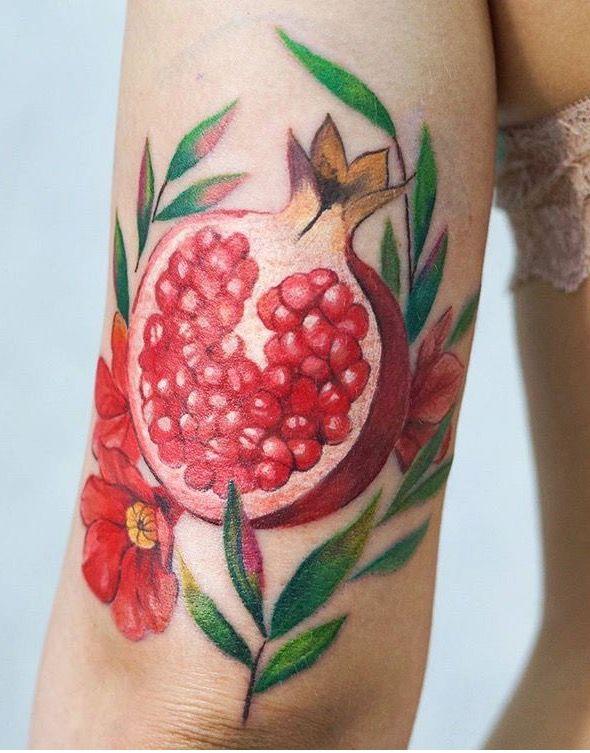 anya limanya pomegranate tattoo tatto pinterest tatuajes. Black Bedroom Furniture Sets. Home Design Ideas
