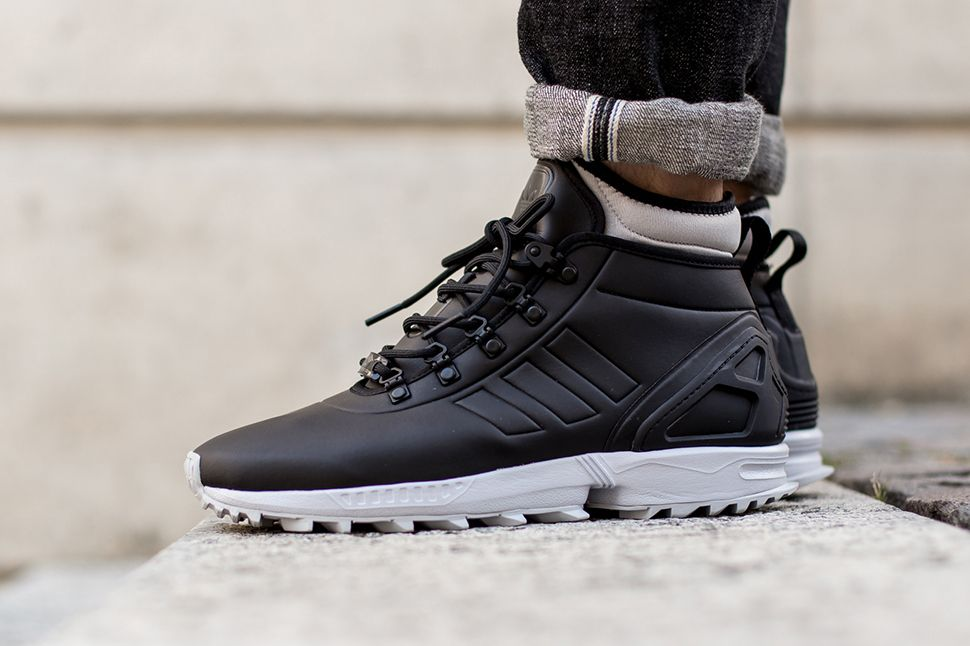 adidas zx flux winter core black eu kicks sneaker magazine street sneakers pinterest. Black Bedroom Furniture Sets. Home Design Ideas