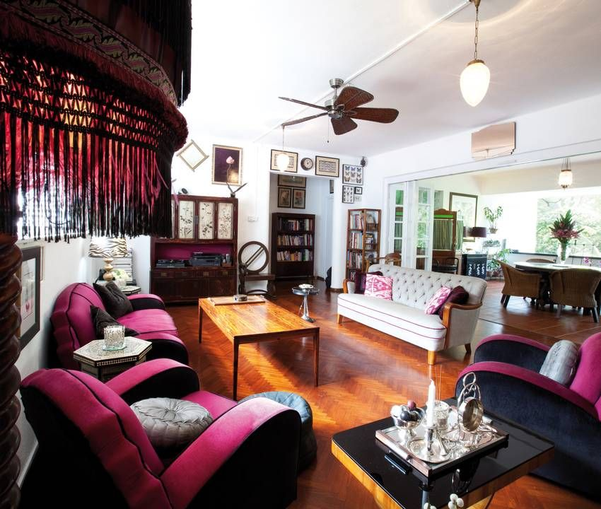 Art Deco plus Chinese cabinet and \'50s sofa. | Our Singapore Black ...