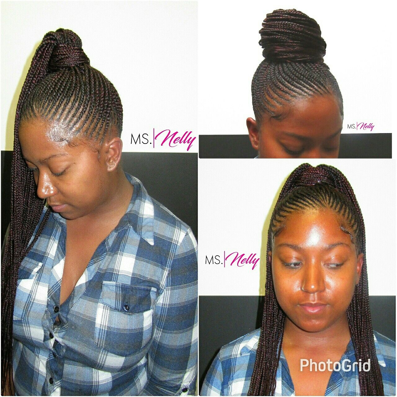 Small Feeder Ponytail Braids By Ms Nelly Braids Hair Styles